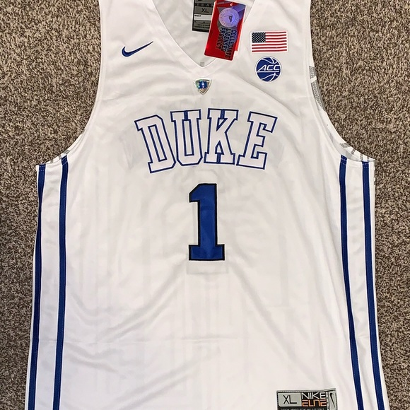 new arrival e04b2 94e0e Zion Williamson Duke Blue Devils #1 White Jersey NWT